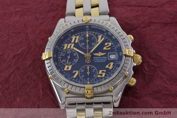 Used luxury watch Breitling Chronomat chronograph steel / gold automatic Kal. B13 ETA 7750 Ref. B13050.1  | 152935 16
