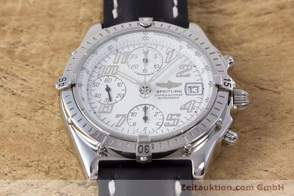 Used luxury watch Breitling Chronomat chronograph steel automatic Kal. B13 ETA 7750 Ref. A13050.1  | 152939 16