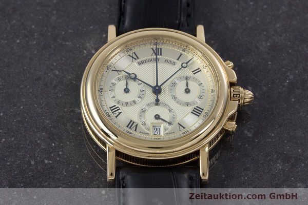 Used luxury watch Breguet Marine chronograph 18 ct gold automatic Kal. 576 Ref. 833C  | 152941 16