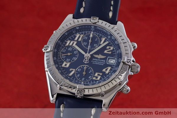 Used luxury watch Breitling Chronomat chronograph steel automatic Kal. B13 ETA 7750 Ref. A13050.1  | 152946 04