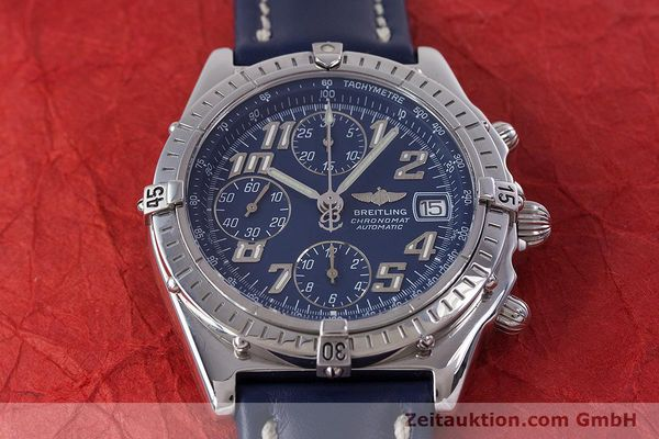 Used luxury watch Breitling Chronomat chronograph steel automatic Kal. B13 ETA 7750 Ref. A13050.1  | 152946 15