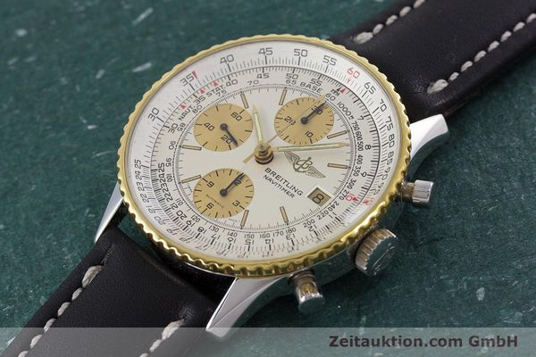 Used luxury watch Breitling Navitimer chronograph steel / gold automatic Kal. Valj.  7750 Ref. 81610  | 152947 01