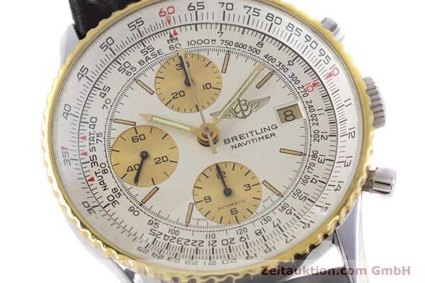 Used luxury watch Breitling Navitimer chronograph steel / gold automatic Kal. Valj.  7750 Ref. 81610  | 152947 02