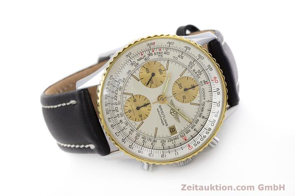 Used luxury watch Breitling Navitimer chronograph steel / gold automatic Kal. Valj.  7750 Ref. 81610  | 152947 03