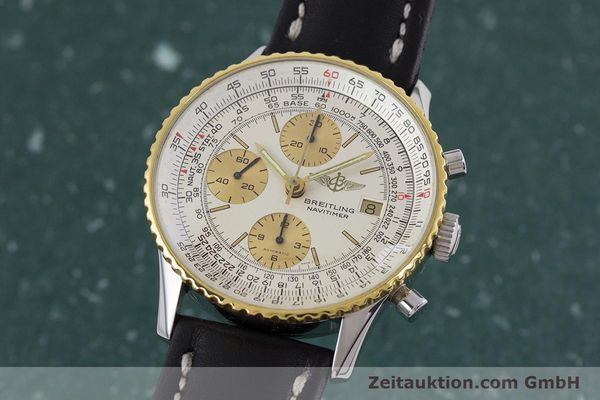 Used luxury watch Breitling Navitimer chronograph steel / gold automatic Kal. Valj.  7750 Ref. 81610  | 152947 04
