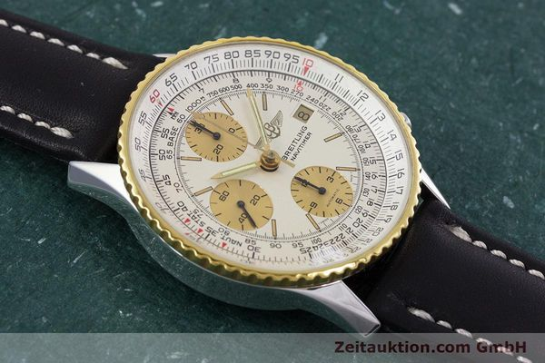 Used luxury watch Breitling Navitimer chronograph steel / gold automatic Kal. Valj.  7750 Ref. 81610  | 152947 12