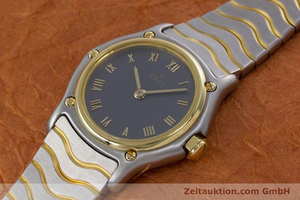 Used luxury watch Ebel Classic Wave steel / gold quartz Kal. 057 Ref. 1057901  | 152951 01