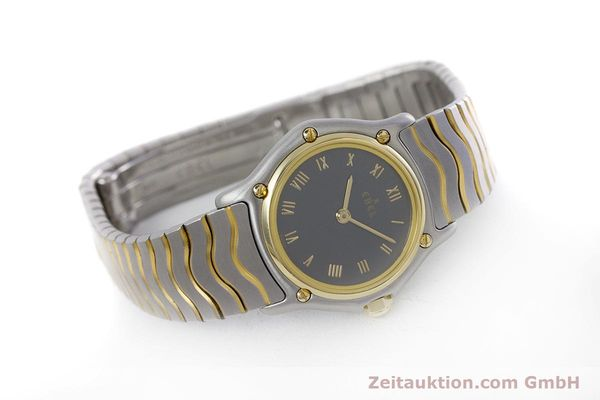 Used luxury watch Ebel Classic Wave steel / gold quartz Kal. 057 Ref. 1057901  | 152951 03