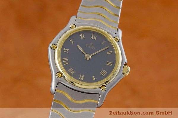 Used luxury watch Ebel Classic Wave steel / gold quartz Kal. 057 Ref. 1057901  | 152951 04