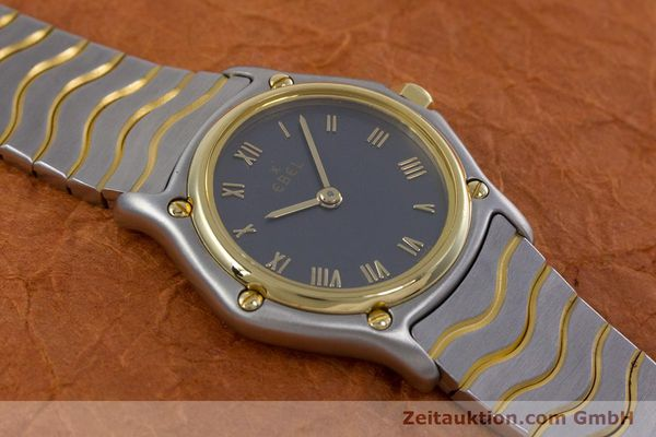 Used luxury watch Ebel Classic Wave steel / gold quartz Kal. 057 Ref. 1057901  | 152951 13