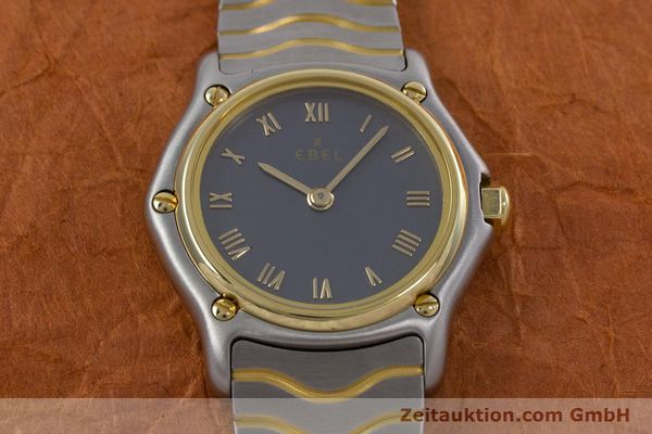 Used luxury watch Ebel Classic Wave steel / gold quartz Kal. 057 Ref. 1057901  | 152951 14