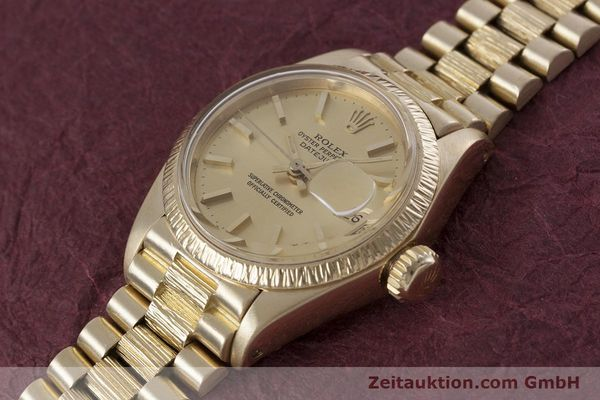 Used luxury watch Rolex Lady Datejust 18 ct gold automatic Kal. 2030 Ref. 6927  | 152952 01