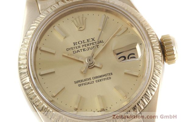 Used luxury watch Rolex Lady Datejust 18 ct gold automatic Kal. 2030 Ref. 6927  | 152952 02