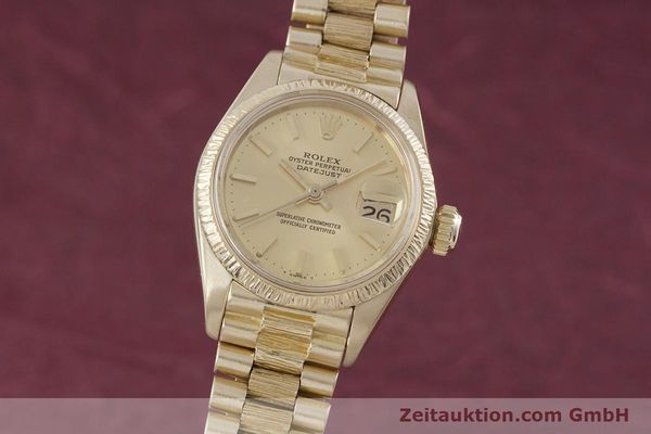 Used luxury watch Rolex Lady Datejust 18 ct gold automatic Kal. 2030 Ref. 6927  | 152952 04