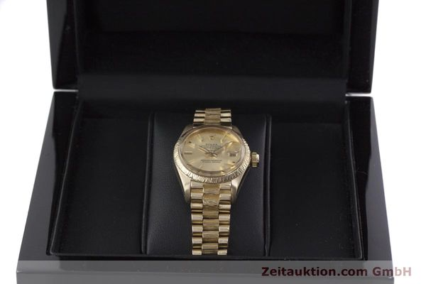 Used luxury watch Rolex Lady Datejust 18 ct gold automatic Kal. 2030 Ref. 6927  | 152952 07