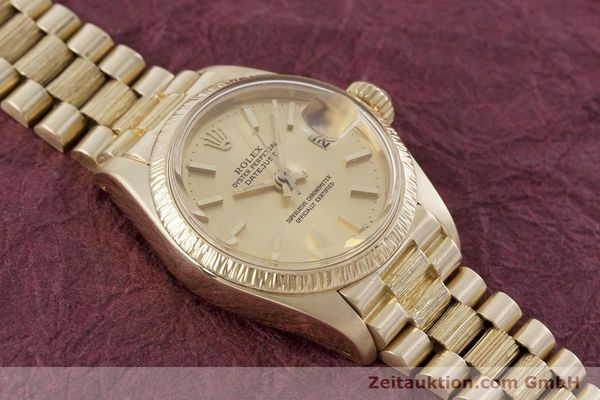 Used luxury watch Rolex Lady Datejust 18 ct gold automatic Kal. 2030 Ref. 6927  | 152952 16