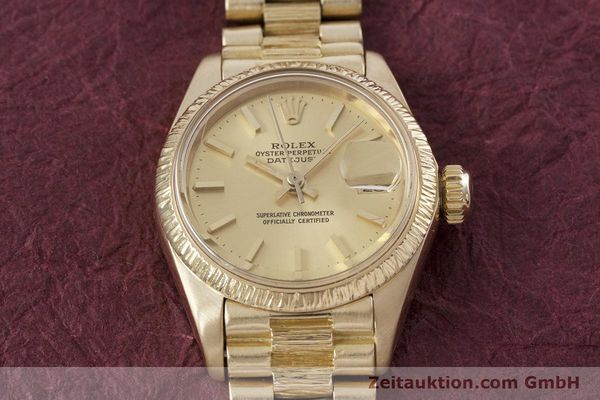 Used luxury watch Rolex Lady Datejust 18 ct gold automatic Kal. 2030 Ref. 6927  | 152952 17