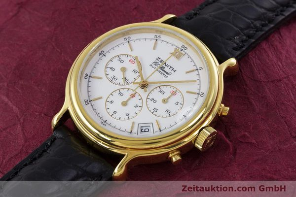 Used luxury watch Zenith Elprimero chronograph gold-plated automatic Kal. 400 Ref. 20.0020.400  | 152954 01