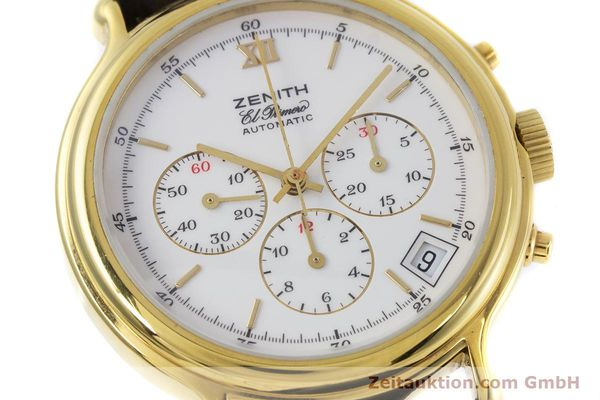 Used luxury watch Zenith Elprimero chronograph gold-plated automatic Kal. 400 Ref. 20.0020.400  | 152954 02