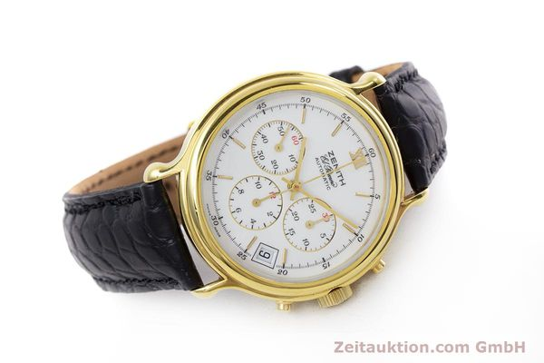 Used luxury watch Zenith Elprimero chronograph gold-plated automatic Kal. 400 Ref. 20.0020.400  | 152954 03