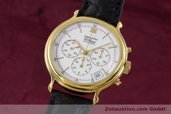Used luxury watch Zenith Elprimero chronograph gold-plated automatic Kal. 400 Ref. 20.0020.400  | 152954 04