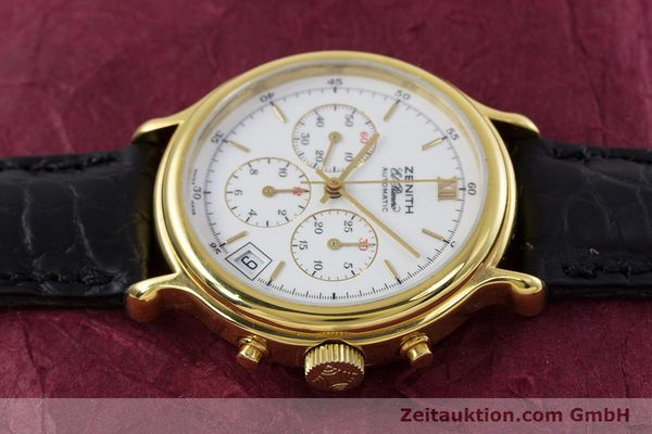 Used luxury watch Zenith Elprimero chronograph gold-plated automatic Kal. 400 Ref. 20.0020.400  | 152954 05