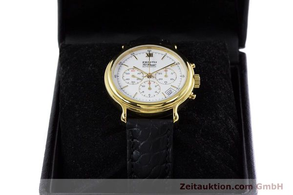 Used luxury watch Zenith Elprimero chronograph gold-plated automatic Kal. 400 Ref. 20.0020.400  | 152954 07