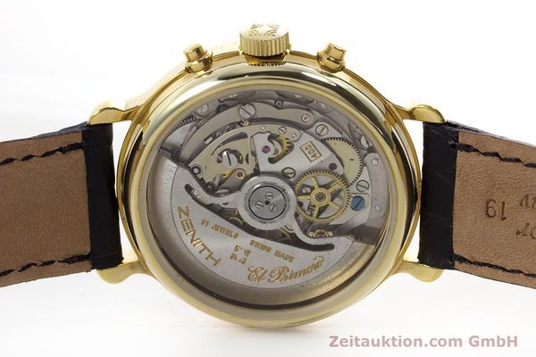 Used luxury watch Zenith Elprimero chronograph gold-plated automatic Kal. 400 Ref. 20.0020.400  | 152954 09
