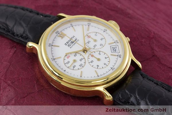 Used luxury watch Zenith Elprimero chronograph gold-plated automatic Kal. 400 Ref. 20.0020.400  | 152954 13