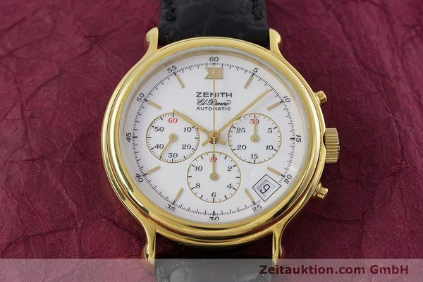 Used luxury watch Zenith Elprimero chronograph gold-plated automatic Kal. 400 Ref. 20.0020.400  | 152954 14