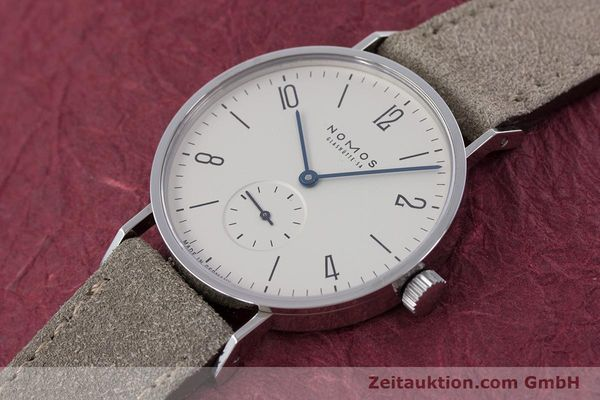 Used luxury watch Nomos Tangente steel manual winding Kal. ETA 7001  | 152955 01