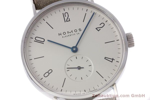 Used luxury watch Nomos Tangente steel manual winding Kal. ETA 7001  | 152955 02