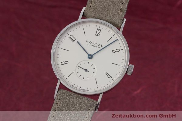 Used luxury watch Nomos Tangente steel manual winding Kal. ETA 7001  | 152955 04