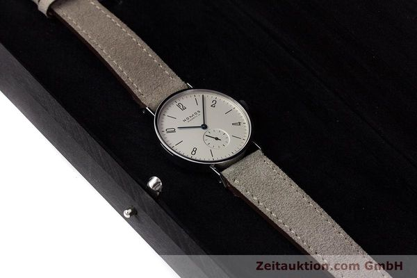 Used luxury watch Nomos Tangente steel manual winding Kal. ETA 7001  | 152955 07