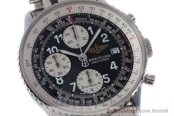 Used luxury watch Breitling Navitimer chronograph steel automatic Kal. B13 ETA 7750 Ref. A13322  | 152977 02