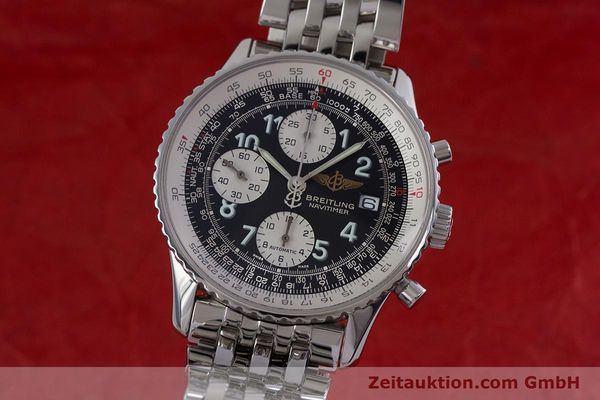 Used luxury watch Breitling Navitimer chronograph steel automatic Kal. B13 ETA 7750 Ref. A13322  | 152977 04