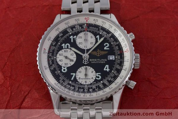 Used luxury watch Breitling Navitimer chronograph steel automatic Kal. B13 ETA 7750 Ref. A13322  | 152977 17
