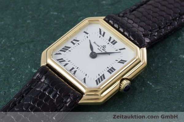 Used luxury watch Baume & Mercier * 18 ct gold manual winding Kal. BM550 Ref. 38259  | 152980 01