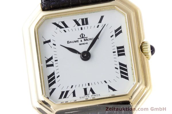 Used luxury watch Baume & Mercier * 18 ct gold manual winding Kal. BM550 Ref. 38259  | 152980 02