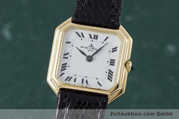 Used luxury watch Baume & Mercier * 18 ct gold manual winding Kal. BM550 Ref. 38259  | 152980 04