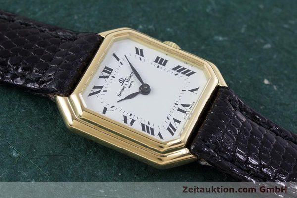 Used luxury watch Baume & Mercier * 18 ct gold manual winding Kal. BM550 Ref. 38259  | 152980 13