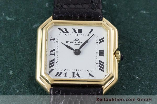 Used luxury watch Baume & Mercier * 18 ct gold manual winding Kal. BM550 Ref. 38259  | 152980 14