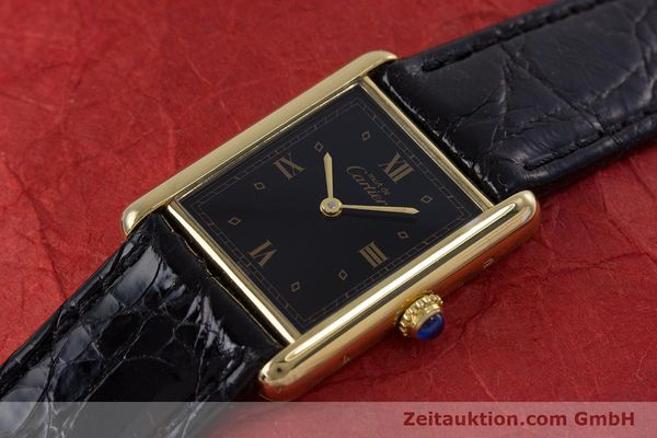 Used luxury watch Cartier Tank silver-gilt quartz Kal. 90  | 152992 01