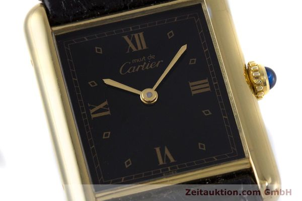 Used luxury watch Cartier Tank silver-gilt quartz Kal. 90  | 152992 02