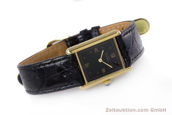 Used luxury watch Cartier Tank silver-gilt quartz Kal. 90  | 152992 03