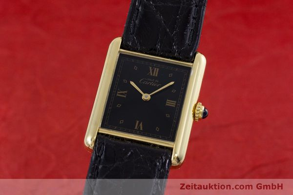 Used luxury watch Cartier Tank silver-gilt quartz Kal. 90  | 152992 04