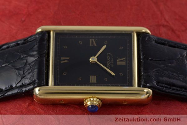 Used luxury watch Cartier Tank silver-gilt quartz Kal. 90  | 152992 05