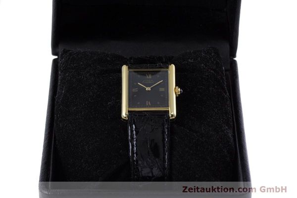 Used luxury watch Cartier Tank silver-gilt quartz Kal. 90  | 152992 07
