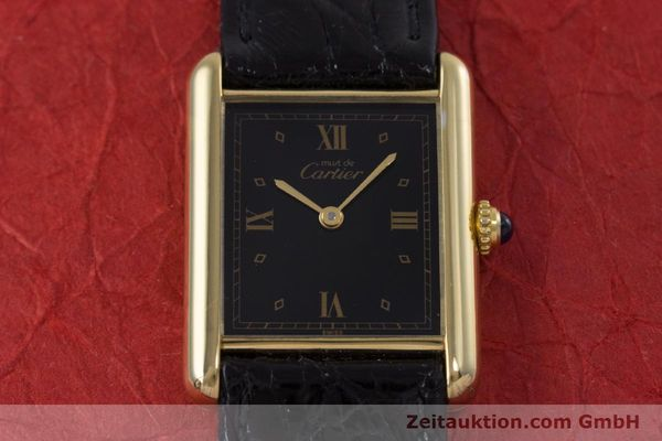 Used luxury watch Cartier Tank silver-gilt quartz Kal. 90  | 152992 12