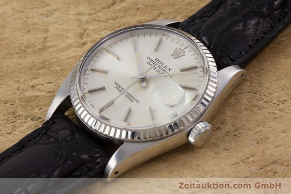 Used luxury watch Rolex Datejust steel / white gold automatic Kal. 3035 Ref. 16014  | 153000 01